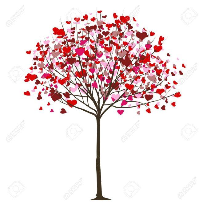 árvore-do-valentim-AMOR-folha-dos-Corações-12840770