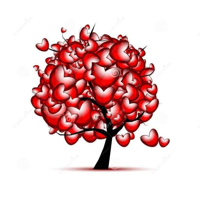 projeto--amor-Árvore de vermelho-Coração-valentine-day-file-eps-format-36719787
